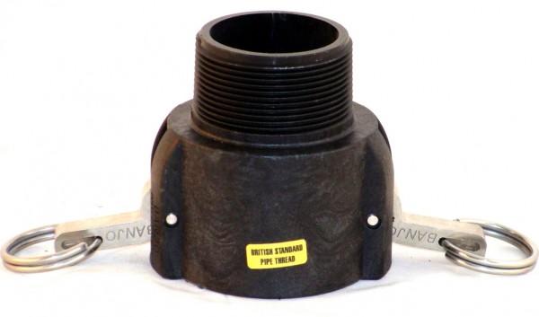 Cam-Lock Mutterteil mit Außengewinde