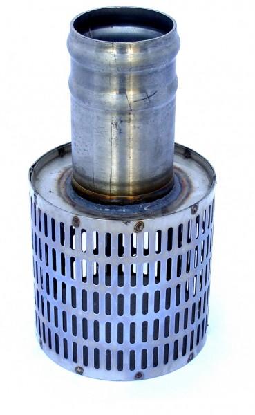 Filter 3 Zoll mit Schlauchanschluss 75 mm, VA
