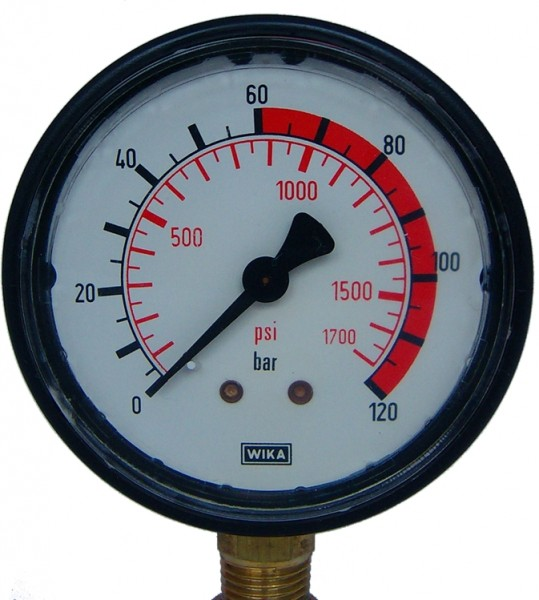 Manometer, Glyzerinmanometer bis 120 bar